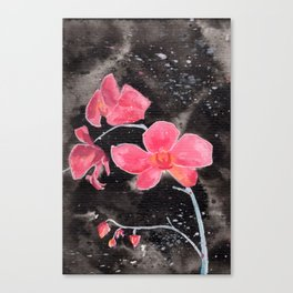 Orchid Ink Painting Canvas Print