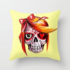 Diana De Los Muertos v2 Throw Pillow