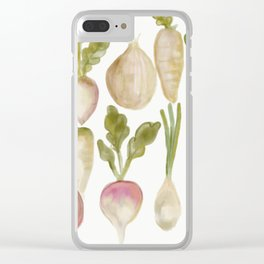 Veggie Garden Clear iPhone Case
