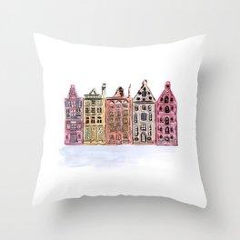 Coloured Houses Throw Pillow