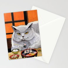 Sushi Cat- Big Fred  Stationery Cards