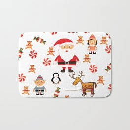 Santa's Christmas Helpers Bath Mat
