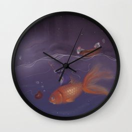 Over Under Water Wall Clock