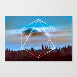 The Elements Geometric Nature Element of Air Canvas Print