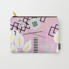 80's Calla Lily Floral Carry-All Pouch