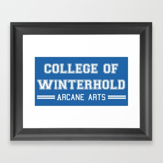 College of Winterhold Framed Art Print