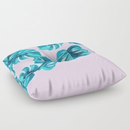 Leaves on Pink Floor Pillow