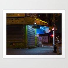 CHINATOWN NYC AT NIGHT. Art Print