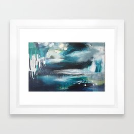 Shipwreck Original Painting by Rachael Rice Framed Art Print