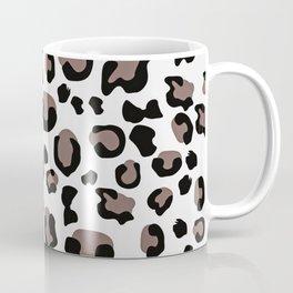 Drunken Cheetah - Black White Grey Terracotta Pastel Coffee Mug