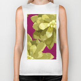 Succulent Plants On A Burgundy Background #decor #buyart #society6 Biker Tank