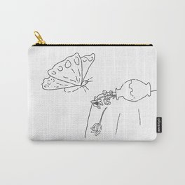 Too Big for the Flowers Summer Still Life with Vase and Butterfly Carry-All Pouch