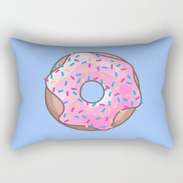 Pink Strawberry Donut Rectangular Pillow