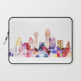 Watercolor Dallas skyline design Laptop Sleeve