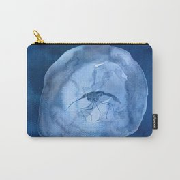 Blue Mosquito in Amber Carry-All Pouch