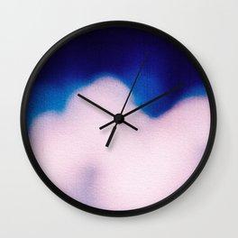 BLUR / clouds Wall Clock