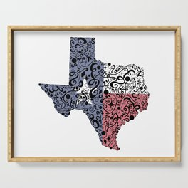 Texas - Hand Sketched Doodle Art Serving Tray