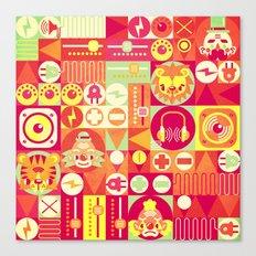 Electro Circus Canvas Print