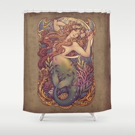 Andersen Little Mermaid Nouveau Shower Curtain