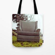 Roadside seating Tote Bag