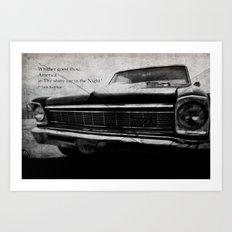 Shiny Car in the Night Art Print