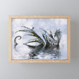 Blue Dragon Framed Mini Art Print
