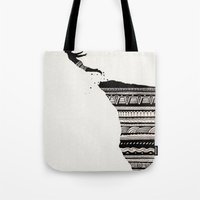 diver Tote Bags featuring Cliff Diver by dan,