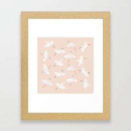 Crane Dance Framed Art Print