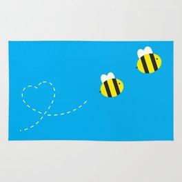 Bee in Love Rug