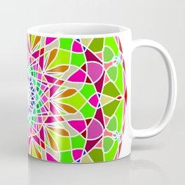 Ethnic gradient mandala on grunge Coffee Mug