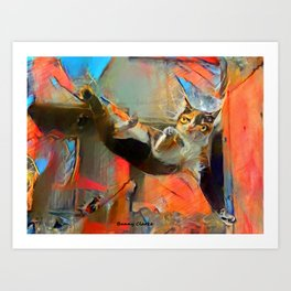 Kung Fu Kitty Art Print
