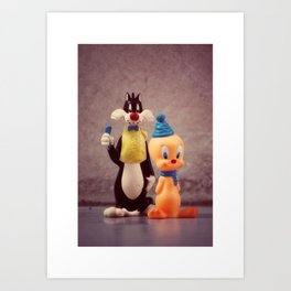 Silvester and Tweety Art Print