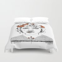 bug Duvet Covers featuring Lady Bug by Maria Suckert