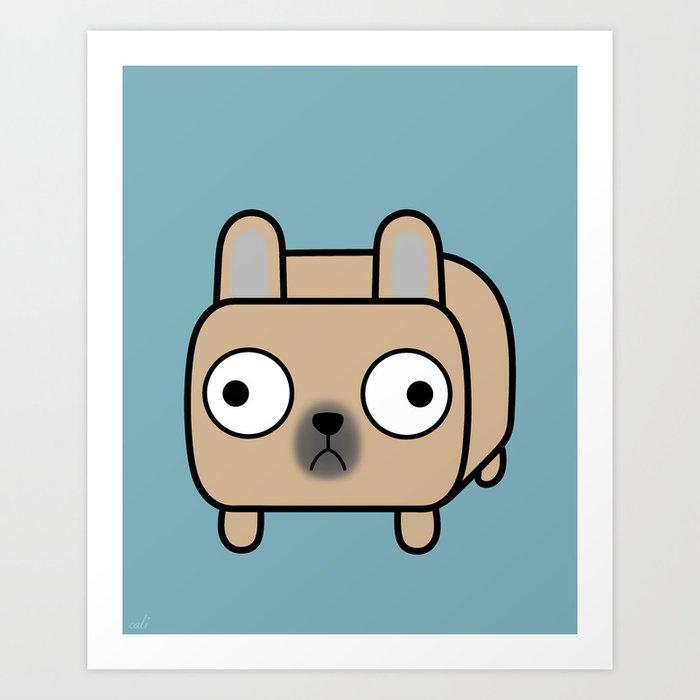 French Bulldog Loaf - Fawn Frenchie Art Print