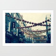 London Chinatown Art Print