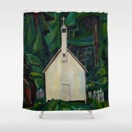 Emily Carr Indian Church Shower Curtain
