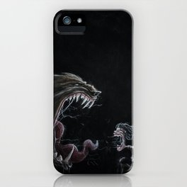 Girl and the Lycan iPhone Case