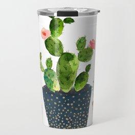 Watercolor cactus trio | hand painted cactus print Travel Mug
