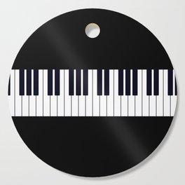 Piano Keys - Black and white simple piano keys pattern minimalistic music themed artwork Cutting Board