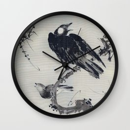 Starlings On A Branch - Digital Remastered Edition Wall Clock