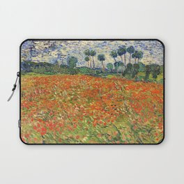 Poppy Field by Vincent van Gogh, 1890 painting Laptop Sleeve