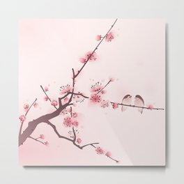 Oriental cherry blossom in spring 005 Metal Print