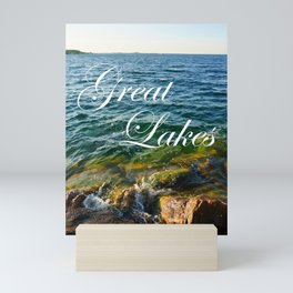 Great Lakes Michigan Lake Huron Photo Mini Art Print