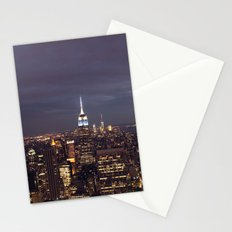 New York City Empire State Building at Night I Stationery Cards