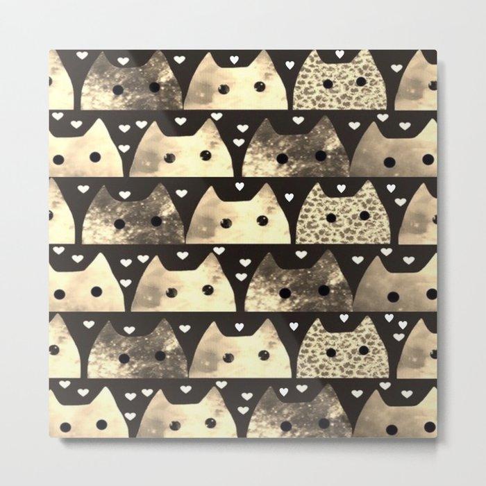gold cats-53 Metal Print
