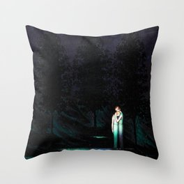 The Kiss of Consolation, Mother and Daughter Portrait Painting by Boleslas Biegas Throw Pillow