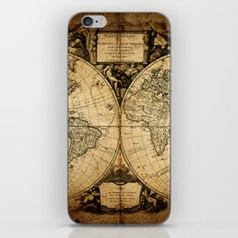 World Map 1752 iPhone Skin