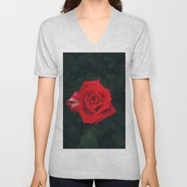 Red rose Unisex V-Neck
