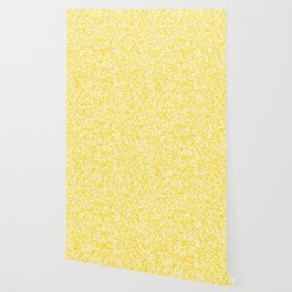 Tiny Spots - White and Gold Yellow Wallpaper