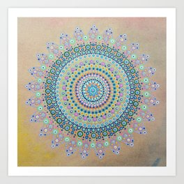 Mursy Hill Wish Board Mandala Art Print